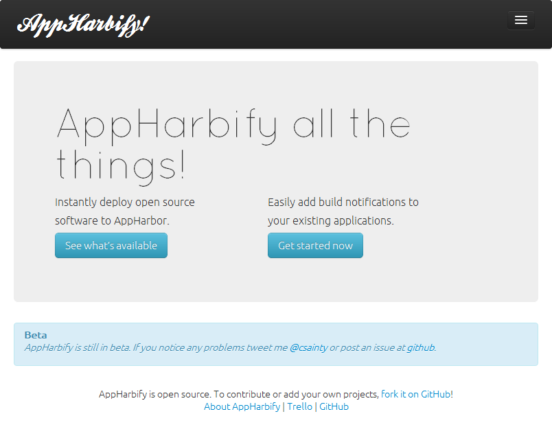 AppHarbify screenshot